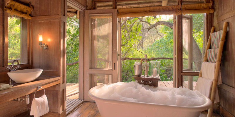 guest bathroom Lake Manyara Tree Lodge